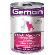 Gemon Dog Medium консервы для собак средних пород кусочки говядины с печенью 415...