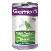 Gemon Dog Medium консервы для собак средних пород кусочки ягненка с рисом 1250г...