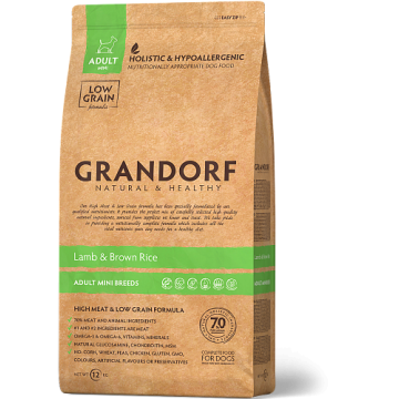 Сухой корм GRANDORF DOG MINI ягнёнок с рисом для собак мини пород