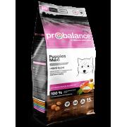 Сухой корм ProBalance Immuno Puppies Maxi для щенков крупных пород, 15кг...