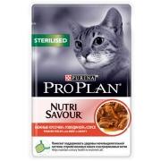 Влажный корм Pro Plan Nutri Savour Sterilised говядина в соусе для стерилизованн...