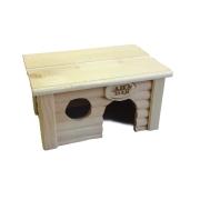 Домик Иванко с плоской крышей деревянный для грызунов...