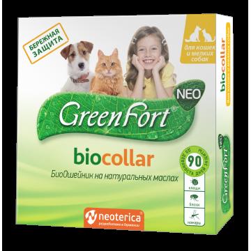 БиоОшейник GreenFort NEO для кошек и мелких собак