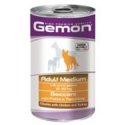 Gemon Dog Medium консервы для собак средних пород кусочки курицы с индейкой 1250...