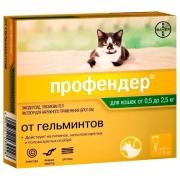 Капли Bayer Профендер (2пипетки) от гельминтов на холку для кошек от 5 до 8кг., ...