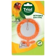 Игрушка для птиц Triol зеркало-подсолнух с колокольчиком 8*17,5 см...