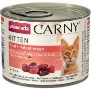 Консервы Animonda Carny Kitten для котят с говядиной и сердцем индейки, 200гр...