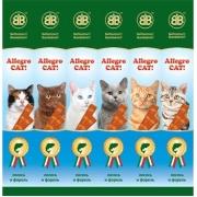 Лакомство B&B Allegro колбаски для кошек с лососем и форелью...