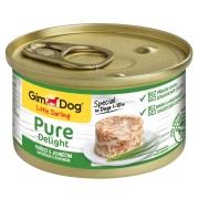 Консервы GimDog Pure Delight для собак из цыпленка с ягненком 85 г...