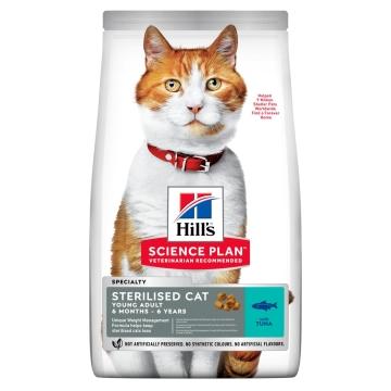 Hill's Science Plan Sterilised Cat сухой корм для кошек и котят от 6 месяцев с тунцом