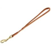 Водилка Hello Pet Лента-чулок с золотым карабином 7мм св. коричневая...