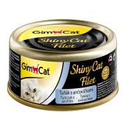 Консервы Gimcat ShinyCat Filet для кошек тунец с анчоусами (70гр)...
