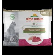Влажный корм Almo Nature HFC Mega Pack Natural Tuna and Chicken для кошек с тунц...