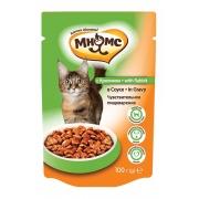 Влажный корм Мнямс паучи для взрослых кошек с кроликом 100 г в соусе, чувствител...