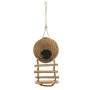 Гнездо Triol домик для птиц из кокоса с лестницей 10*13см...