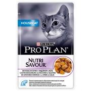 Влажный корм Pro Plan Nutri Savour Housecat индейка для взрослых домашних кошек,...
