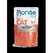 Влажный корм Monge Cat Grill Pouch паучи для котят норвежский лосось 85г...
