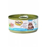 Консервы Мнямс для кошек тунец с креветками в нежном желе, 70гр...