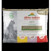 Влажный корм Almo Nature HFC Multi Pack Natural Chicken для кошек ассорти с кури...