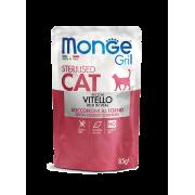 Влажный корм Monge Cat Grill Pouch паучи для стерилизованных кошек итальянская т...