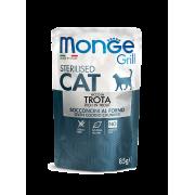Влажный корм Monge Cat Grill Pouch паучи для стерилизованных кошек итальянская ф...