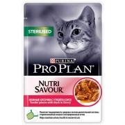 Влажный корм Pro Plan Nutri Savour Sterilised утка в соусе для кошек, 85г...
