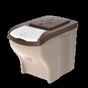 Контейнер BAMA PET для хранения корма POKER 20л 45х40х28h см, бежевый...