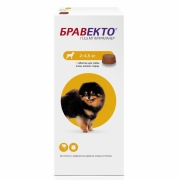 Препарат Intervet Бравекто 112,5мг от блох и клещей для собак 2,0-4,5кг, 1таб., ...