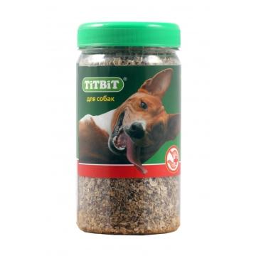 Лакомство TiTBiT для собак рубец говяжий молотый - банка пластиковая