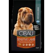 Сухой корм Farmina Cibau Sensitive Adult Maxi and Medium для средних и крупных п...