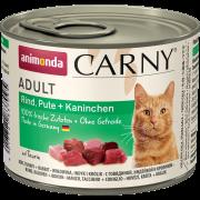 Консервы Animonda Carny Adult для кошек с говядиной, индейкой и кроликом, 400гр...