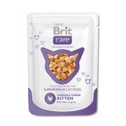 Влажный корм Brit Care для котят курица и сыр пауч (80 гр)...
