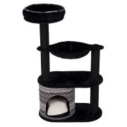Домик (Trixie) для кошки Giada, 112 см, чёрный/белый