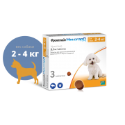 Таблетки Merial Фронтлайн НексгарД жевательные (4 недели), для собак 2-4 кг, со ...
