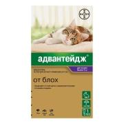 Капли Bayer Адвантейдж 80 (4пип) противопаразитарные для кошек более 4кг поштучн...