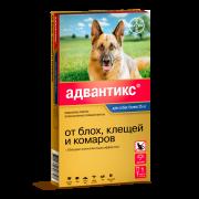 Капли Bayer Адвантикс 400 противопаразитарные более 25кг для собак (4пип), пошту...