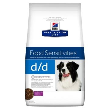 Сухой корм для собак Hill's Prescription Diet d/d Food Sensitivities при аллергии, заболеваниях кожи и неблагоприятной реакции на пищу, с уткой и рисом