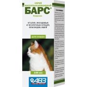 """Спрей АВЗ """"Барс"""" от блох и клещей для кошек (100мл)..."""
