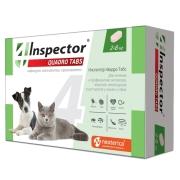 Таблетки Inspector Quadro Tabs от блох, клещей и глистов для кошек и собак 2-8 к...