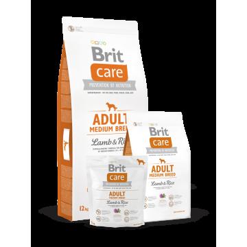 Сухой корм Brit Care Dog Adult Medium для собак средних пород ягненок