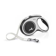 Рулетка Flexi NEW LINE Comfort лента 5 м серый/черный