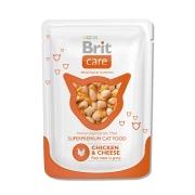 Влажный корм Brit Care для кошек курица и сыр пауч (80 гр)...