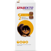 Препарат Intervet Бравекто 112,5мг от блох и клещей для собак 2,0-4,5кг, 2 таб....