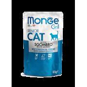 Влажный корм Monge Cat Grill Pouch паучи для пожилых кошек эквадорская макрель 8...