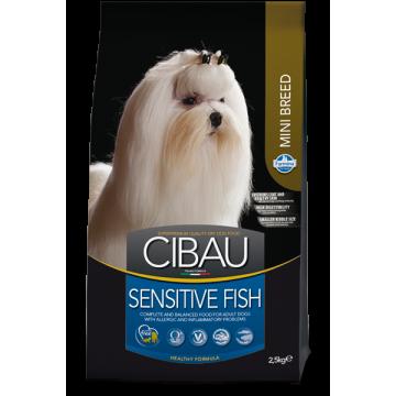 Сухой корм Farmina Cibau Sensitive Adult Mini с рыбой для собак мелких пород