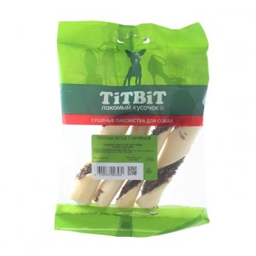 Лакомство TiTBiT для собак палочки витые с начинкой (мягкая упаковка)