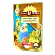 Корм Верные друзья для волнистых попугаев с овощами и фруктами 500гр...