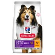 Hill's Science Plan Sensitive Stomach & Skin сухой корм для взрослых собак д...