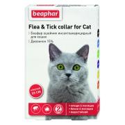 Ошейник Beaphar от блох и клещей (5мес), 35см для кошек красный...