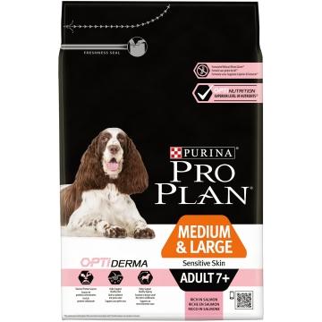 Сухой корм Pro Plan для собак стареющих, лосось+рис
